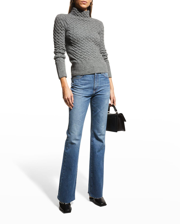 Alexxis Vintage High-Rise Slim Boot-Cut Jeans