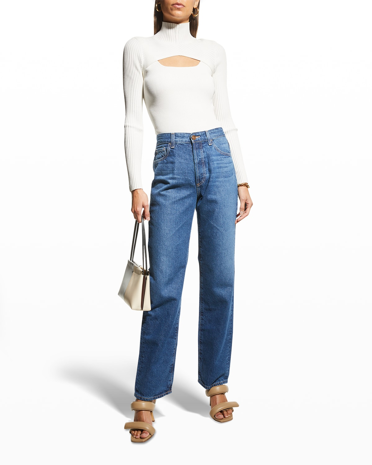 Alexxis Vintage High-Rise Straight Jeans