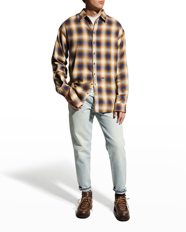 Men's Check Drop-Shoulder Sport Shirt