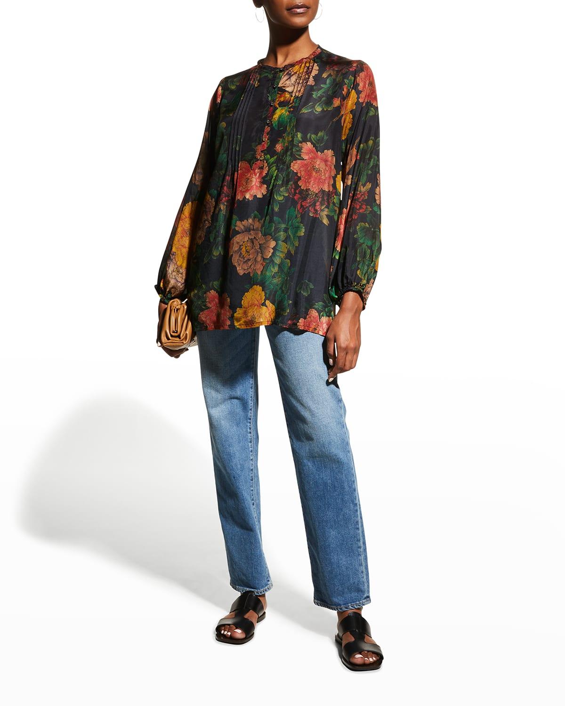 Bayani Everly Floral Silk Tunic