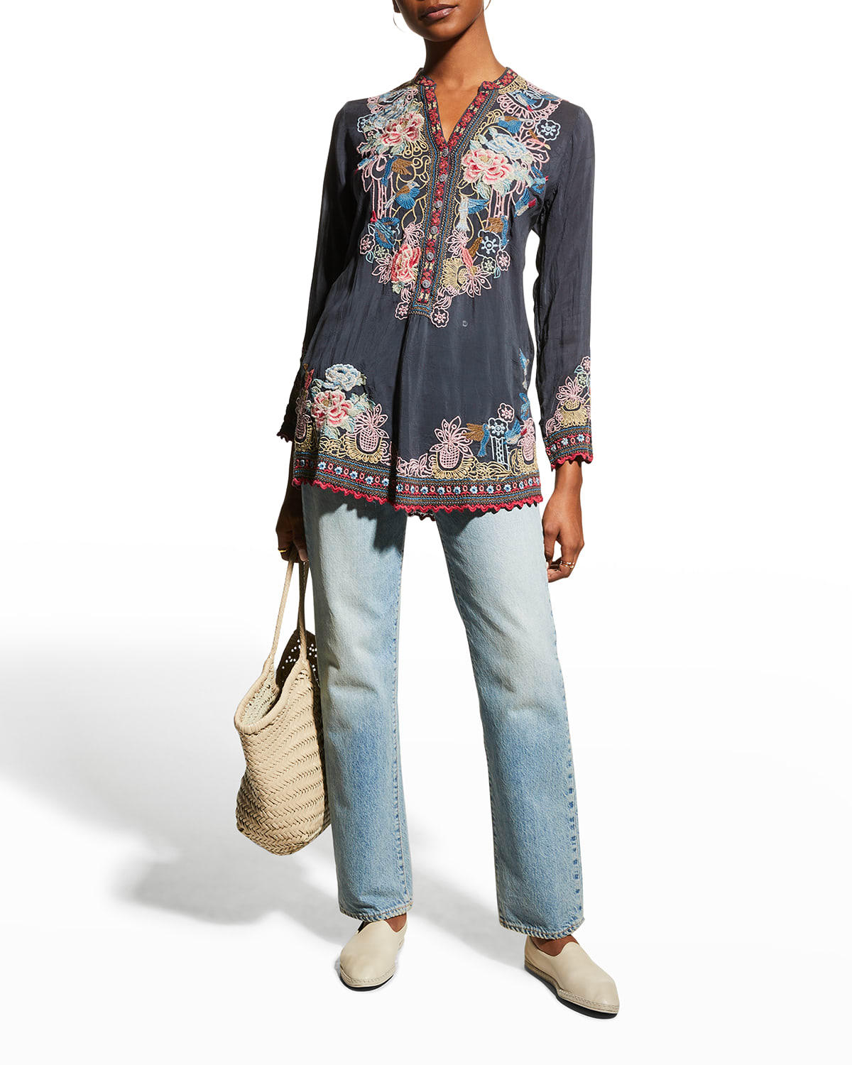 Gracie Embroidered Georgette Blouse