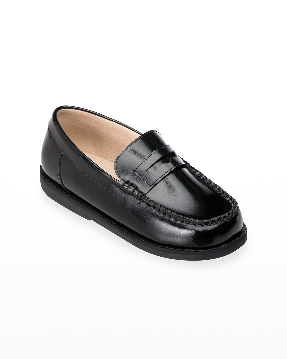 Girl's Scholar Smooth Leather Penny Loafers