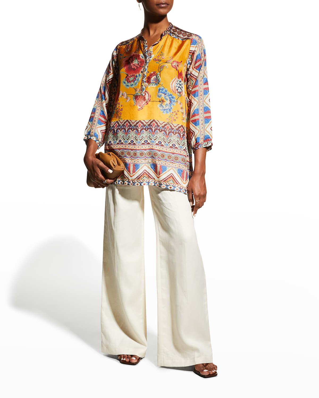 Sasha Maine Silk Tunic