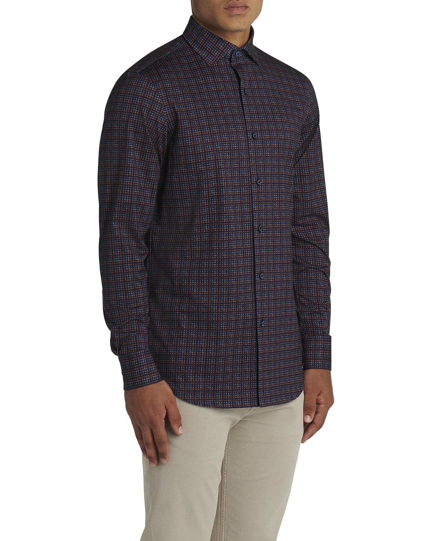 Men's Stretch Cotton Long-Sleeve Shirt
