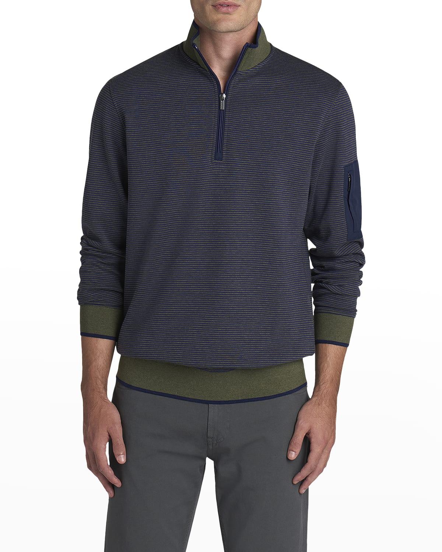 Men's Long-Sleeve Quarter Zip Knit Shirt