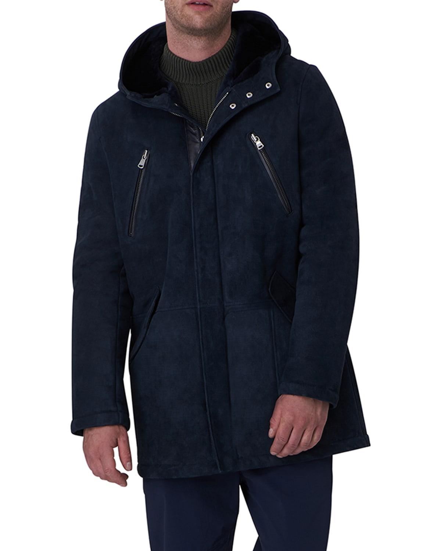 Men's Shearling Lamb Parka Jacket