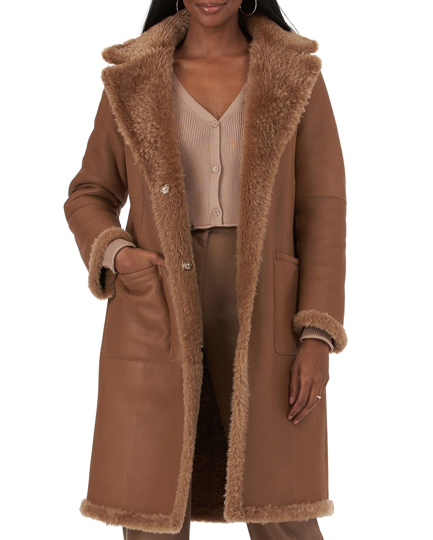 Reversible Shearling Stroller Coat