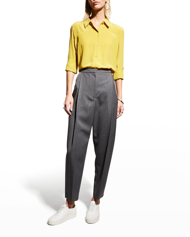 Essential Button-Down Silk Top