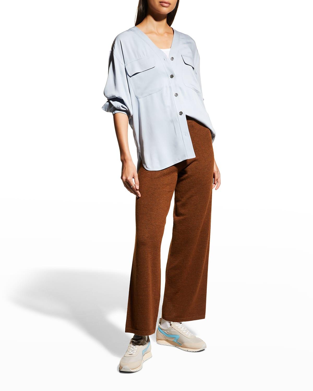 Piapot V-Neck Button-Front Shirt