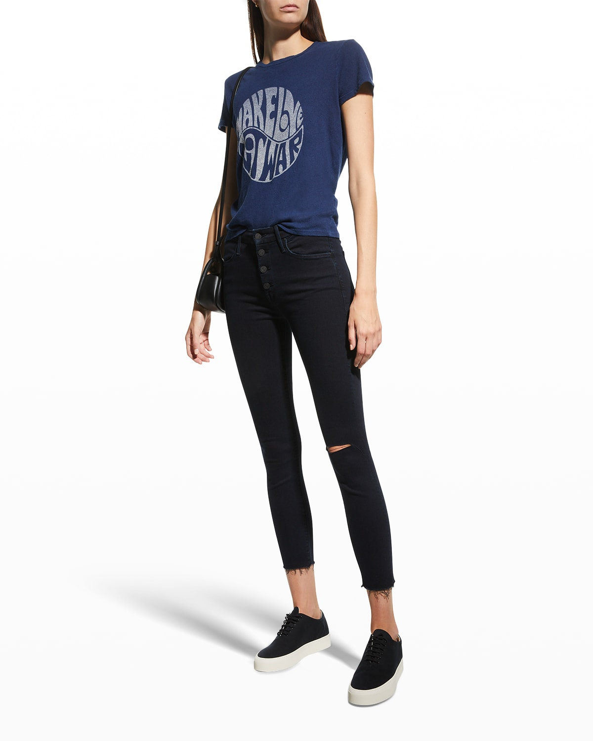 The Pixie Ankle Fray Skinny Jeans