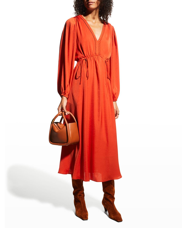 Sari Cinched-Waist Dress