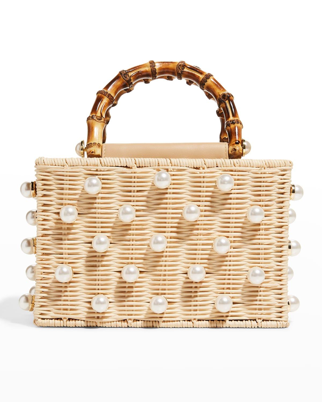 Chloe Pearl Beaded Top-Handle Box Bag