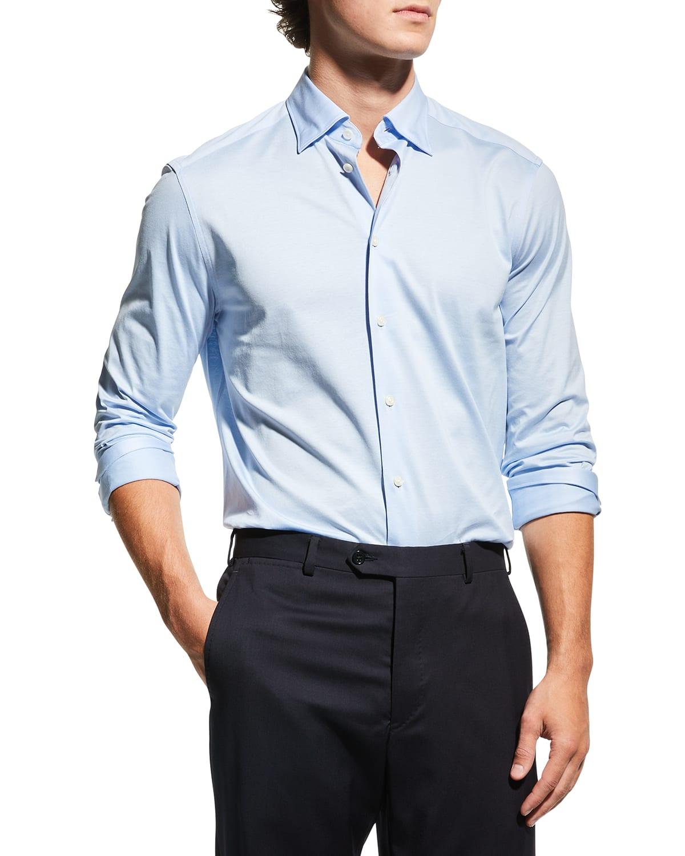 Men's Contemporary Jersey Dress Shirt