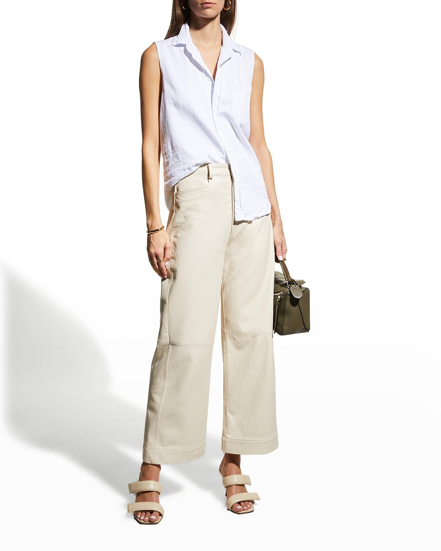 Fiona Sleeveless Button-Up Shirt