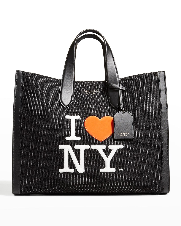 i heart ny large shopper tote bag
