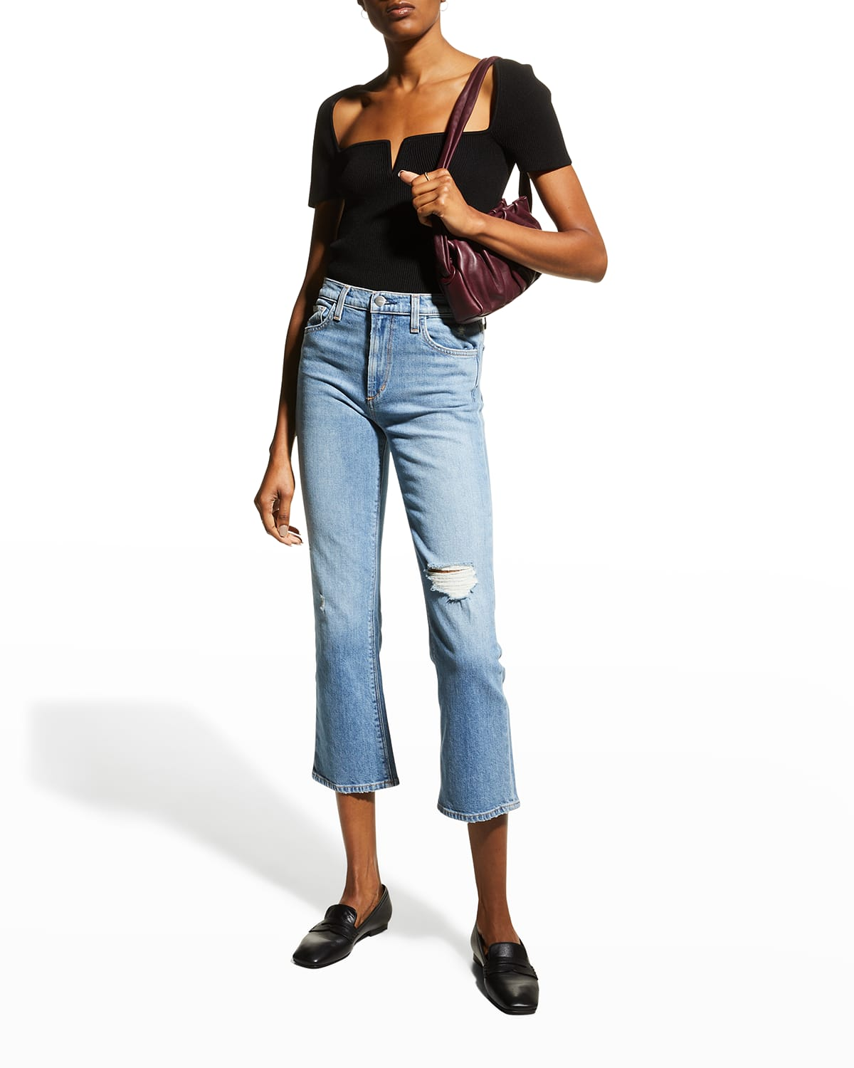 The Callie Cropped Boot-Cut Jeans
