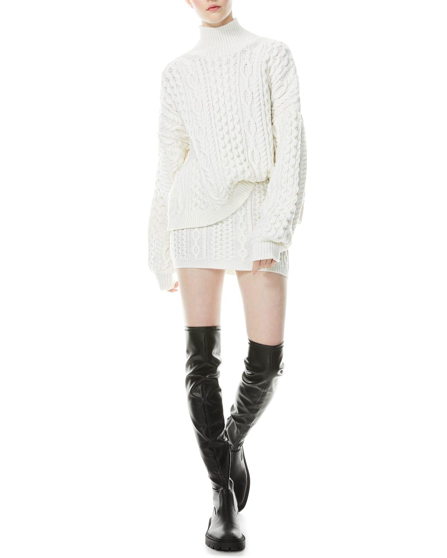 Ingrid Cable-Knit Mini Skirt