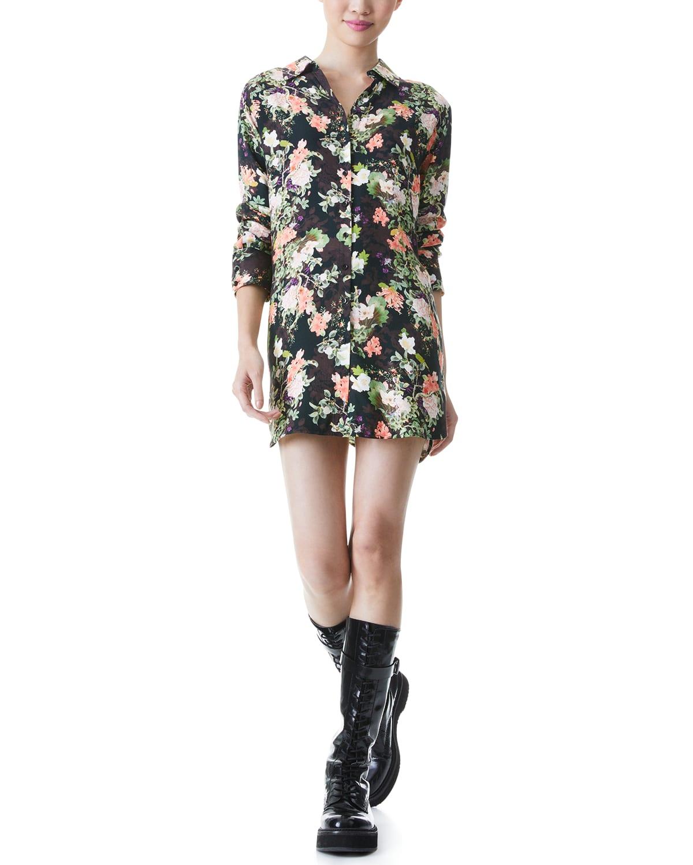Hallie Drop-Shoulder Shirtdress