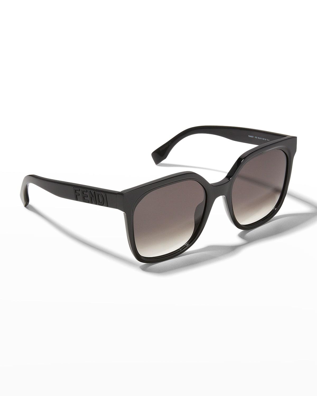 Logo Oversized Square Acetate Sunglasses