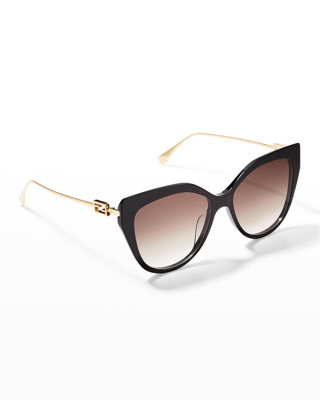 Iconic Baguette Metal Cat-Eye Sunglasses