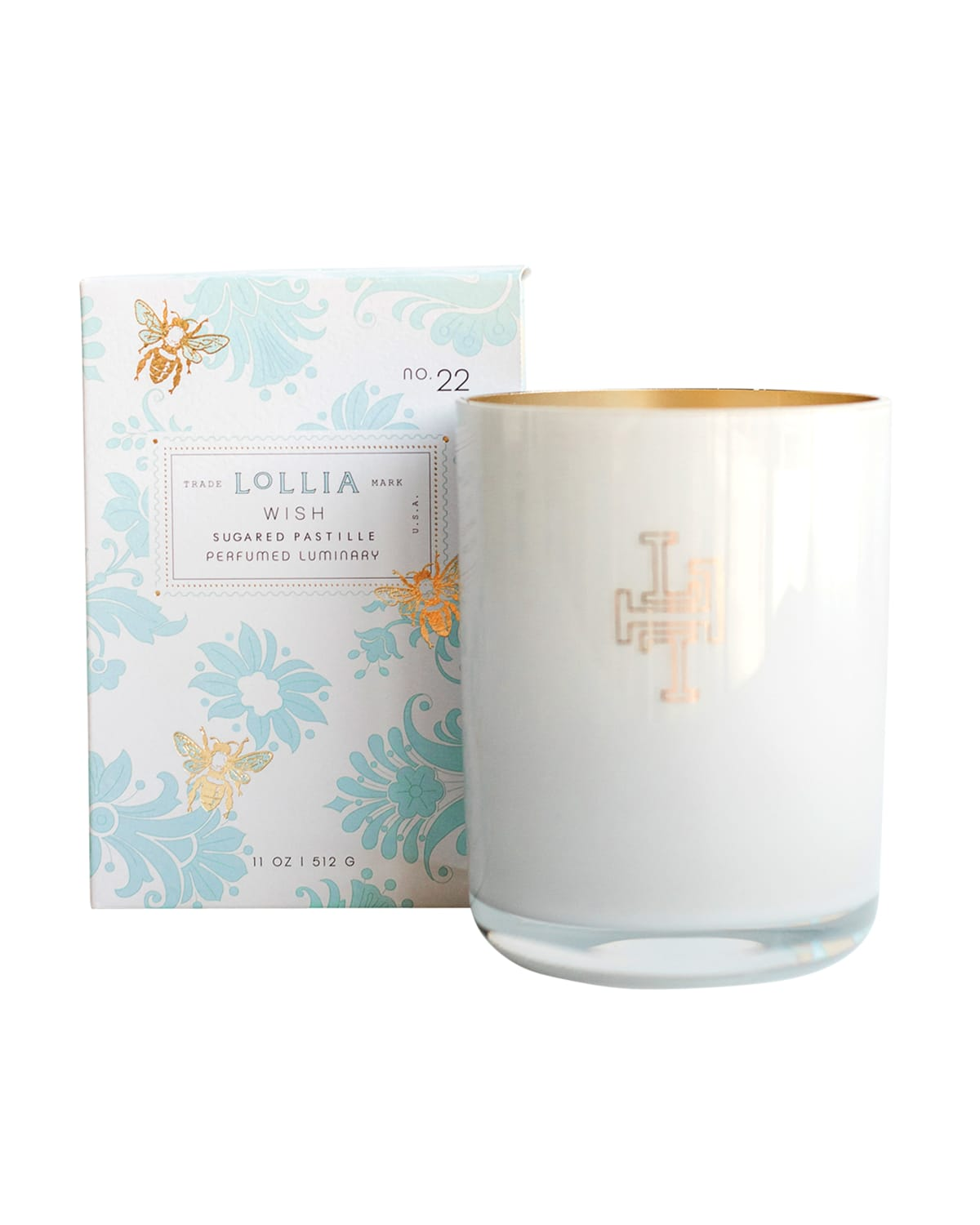 11 oz. Wish Sugared Pastille Luminary Scented Candle