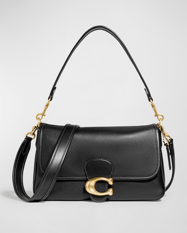 Tabby Leather C Medallion Shoulder Bag