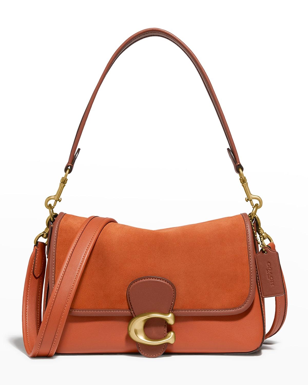 Tabby Mix-Leather Shoulder Bag