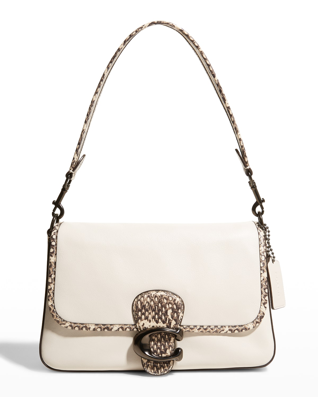 Tabby Snake-Print C Medallion Shoulder Bag