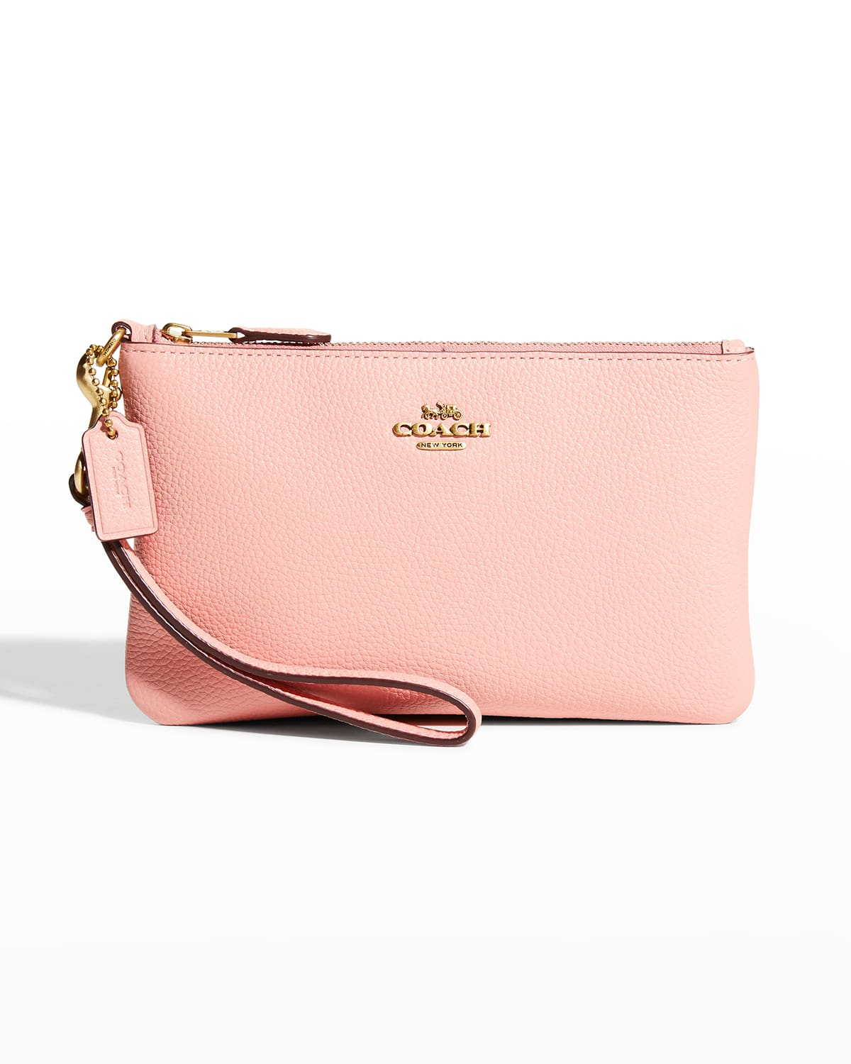 Polished Small Zip Pouch Wristlet