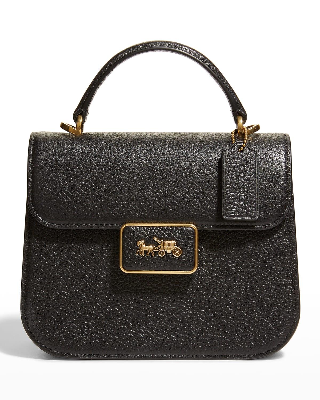 Alie Leather Top Handle Satchel Bag