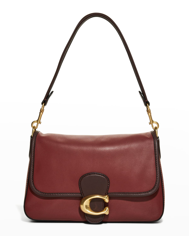 Tabby Bicolor Soft Leather Shoulder Bag