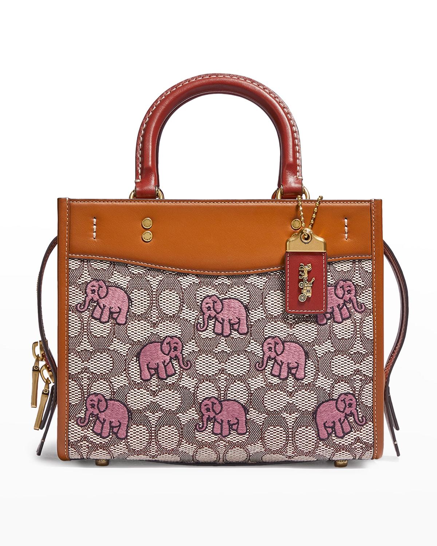 Rogue 25 Monogram Jacquard Elephant Crossbody Bag