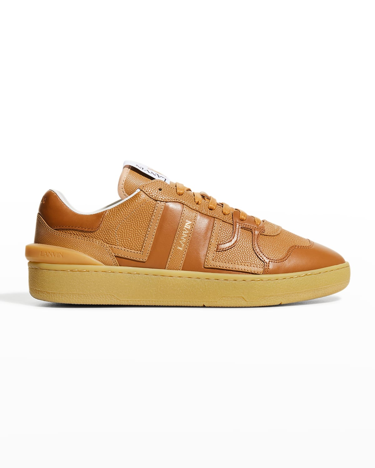 Men's Clay Textured Leather Low-Top Sneakers