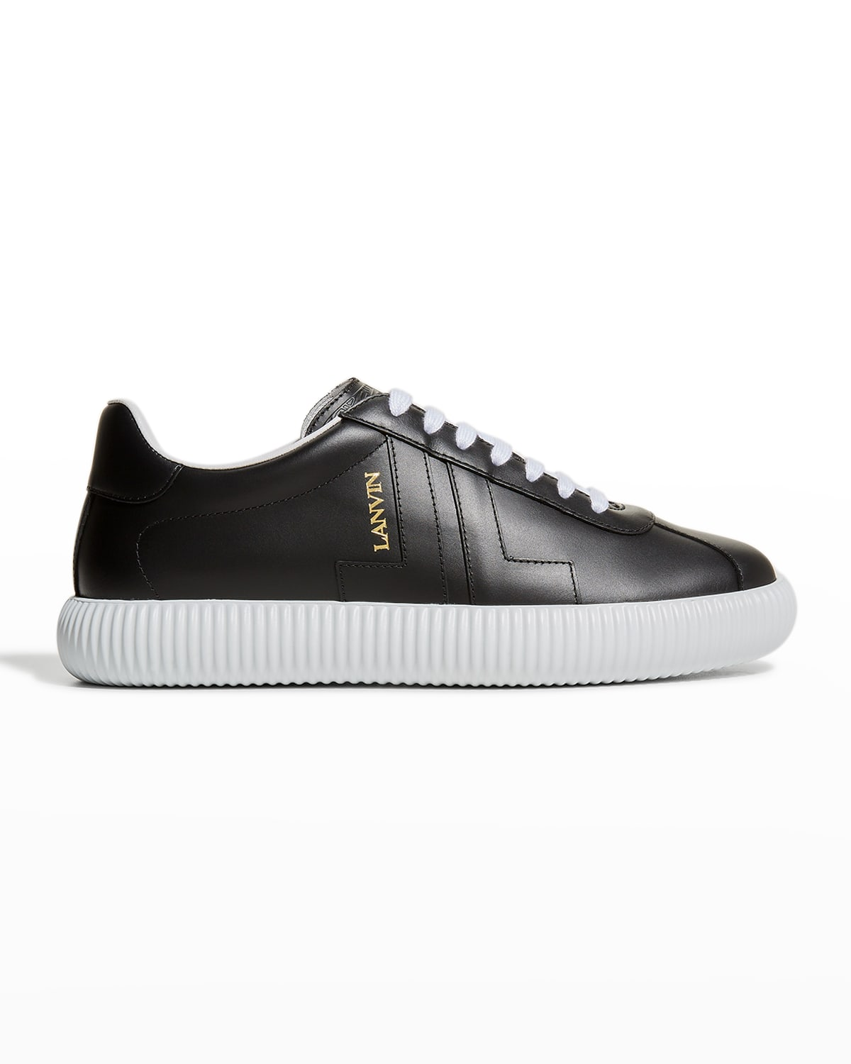 Men's Smooth Leather Low-Top Sneakers