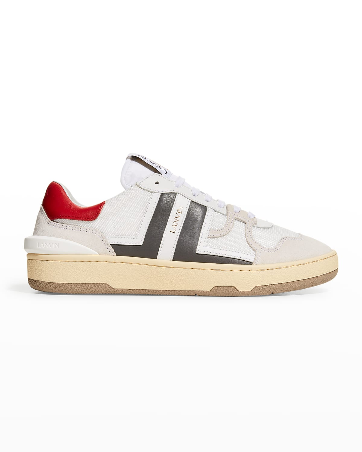 Men's Clay Mesh & Leather Low-Top Sneakers
