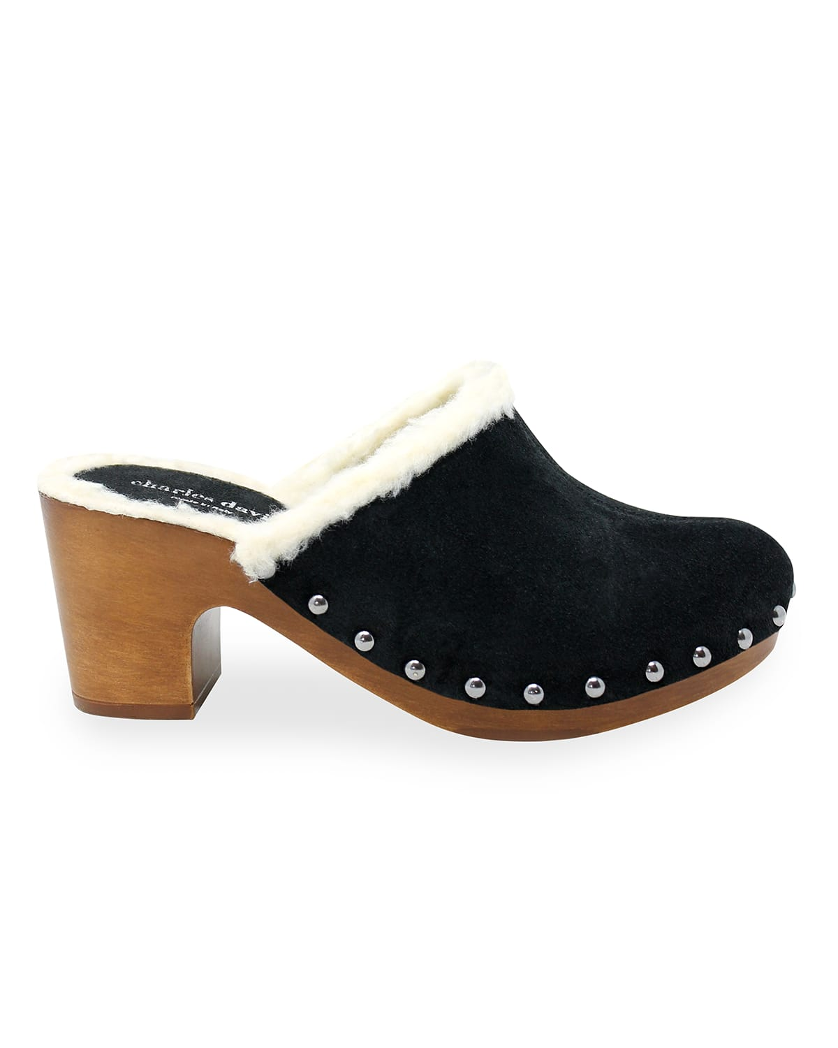 Livid Studded Suede Clog Mules