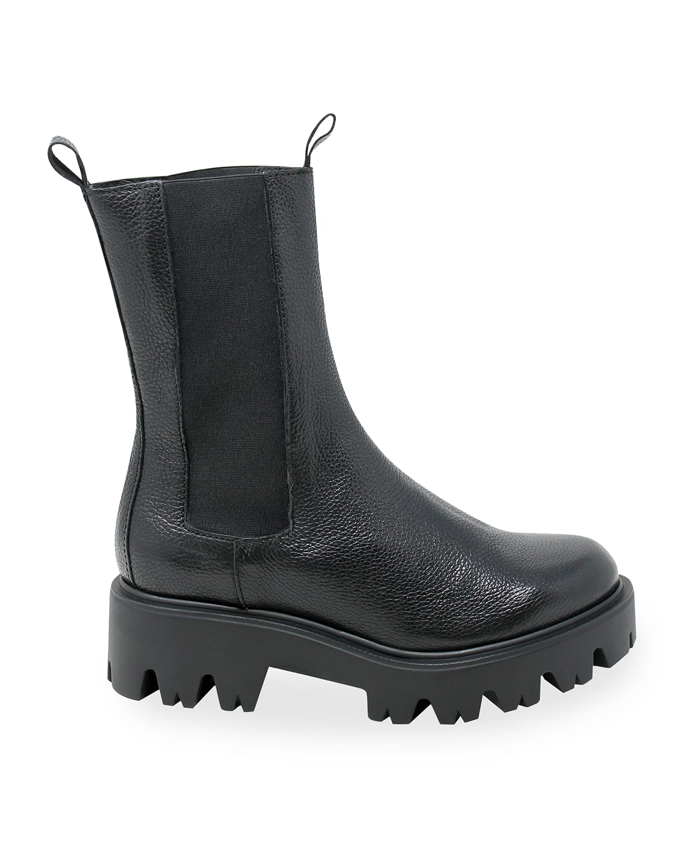 Harrow Leather-Elastic Booties