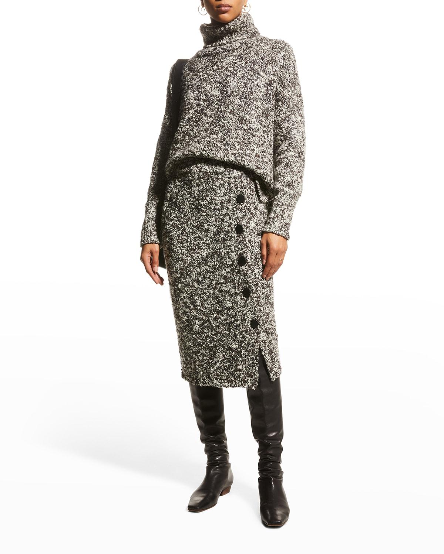 Turtleneck Wool Boucle Sweater