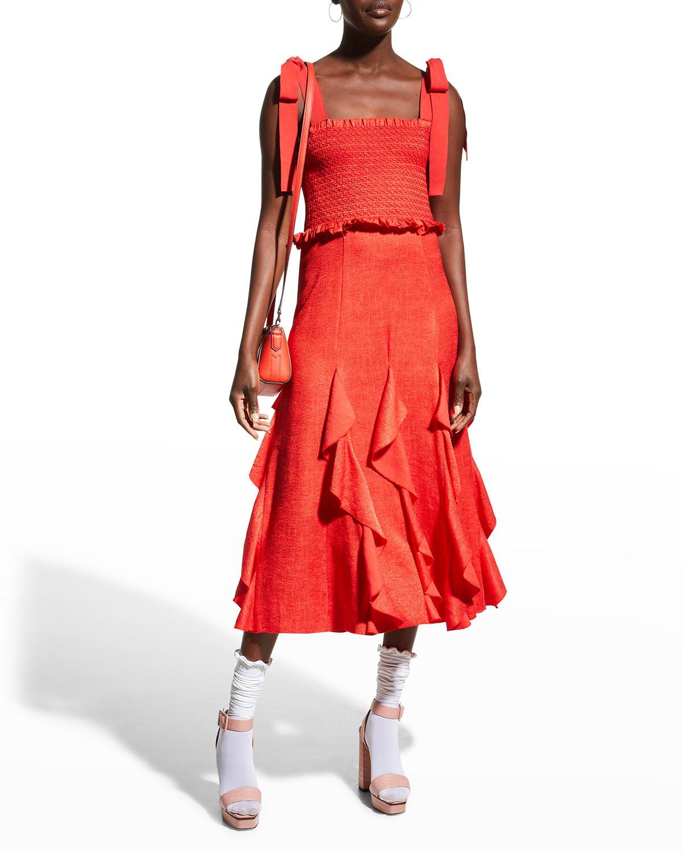 Jocelyn Smocked Ruffle Dress