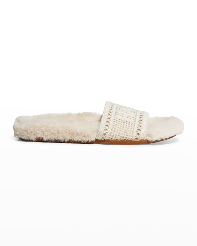 Navona Happy Faux Fur Cozy Sandals