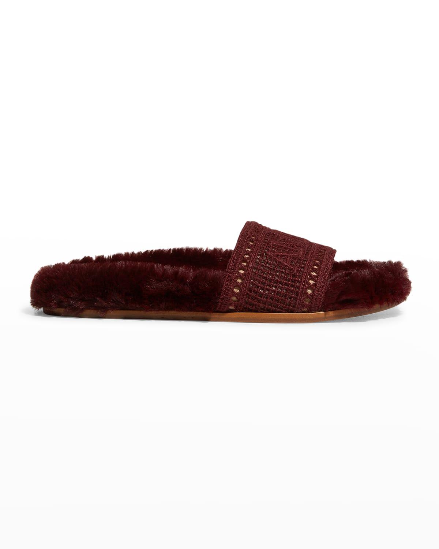 Navona Amore Faux Fur Cozy Sandals