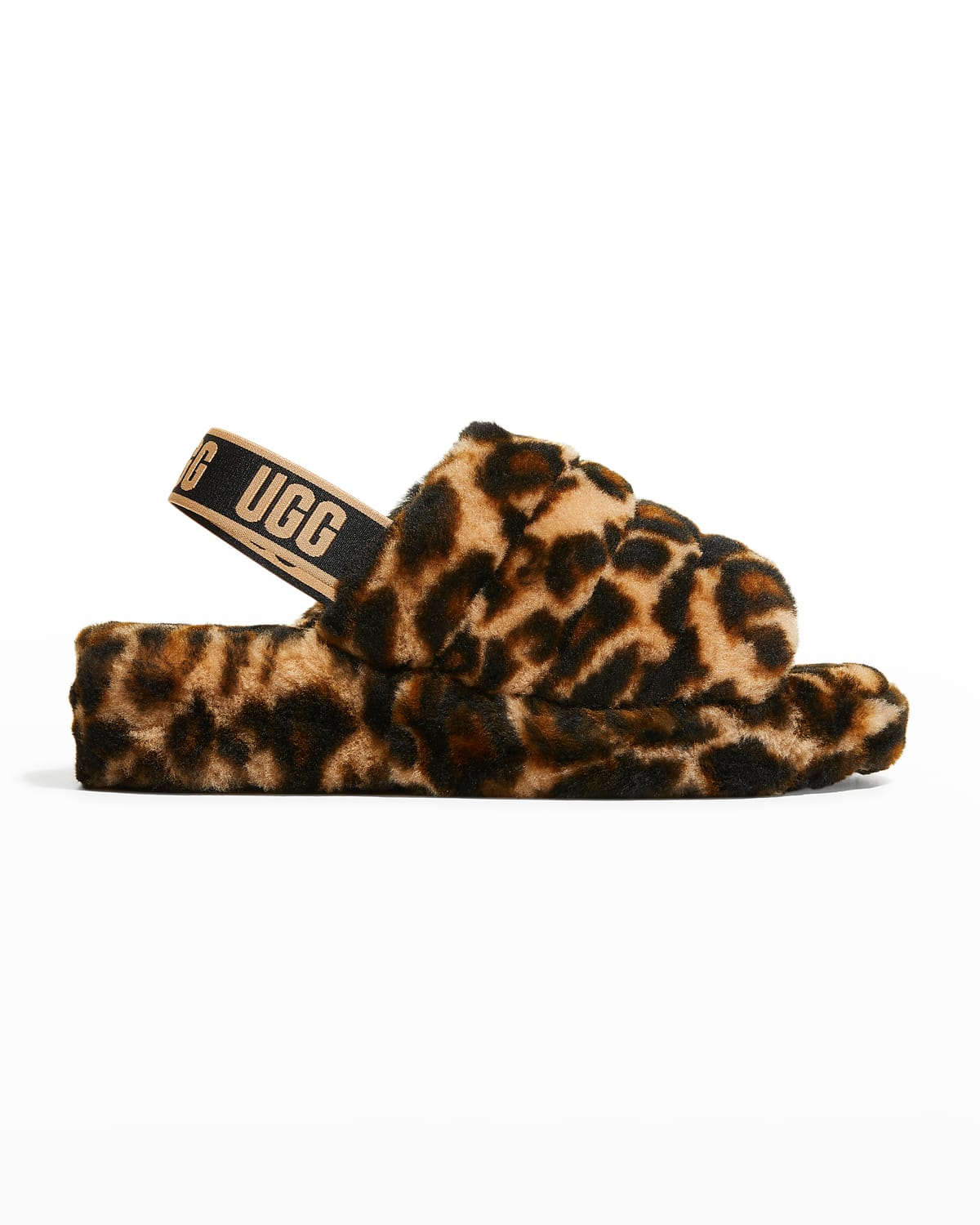 Fluff Yeah Panther-Print Shearling Slippers