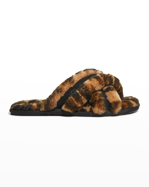 Scuffita Panther-Print Flat Slippers