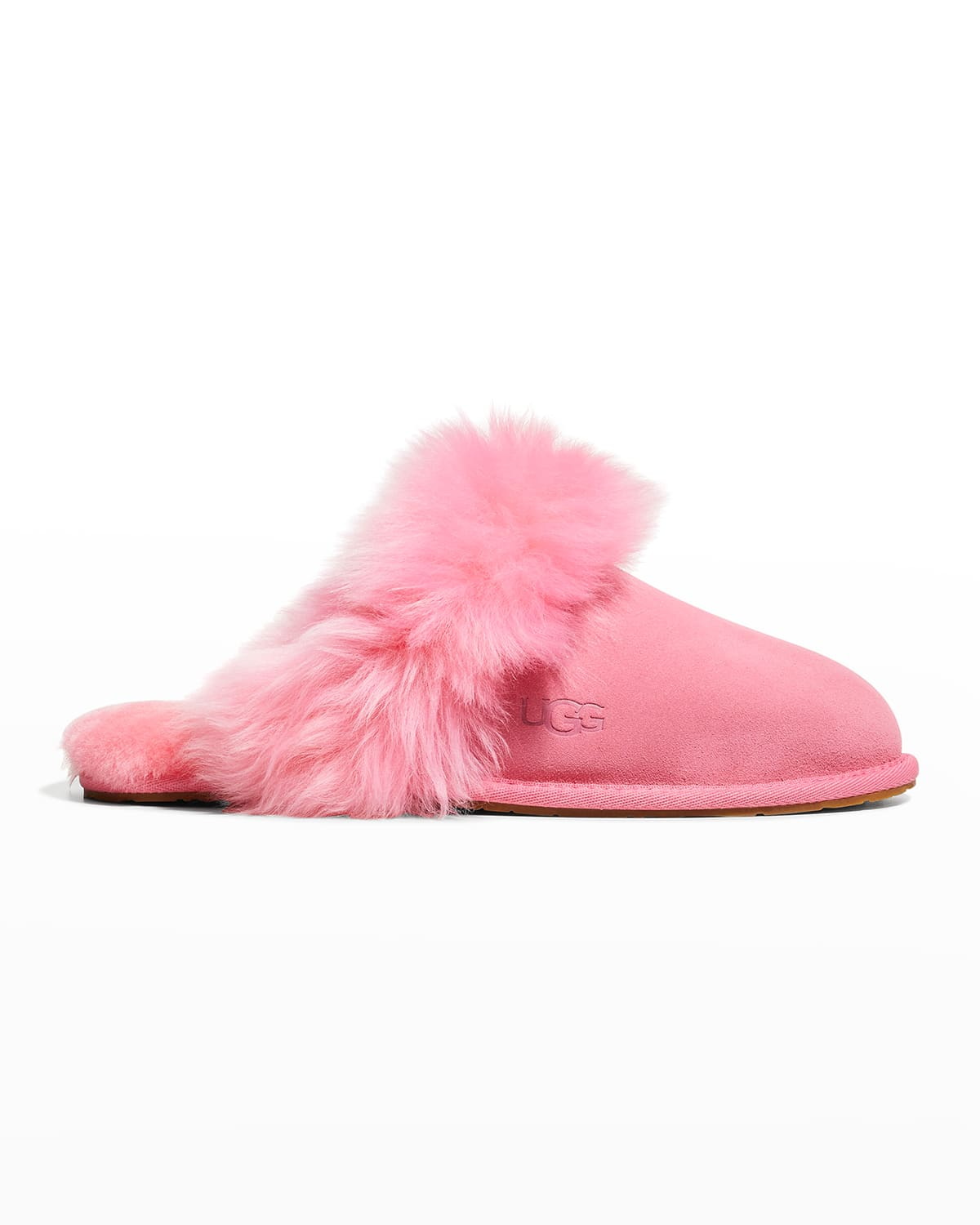 Scuff Sis Suede & Shearling Slippers