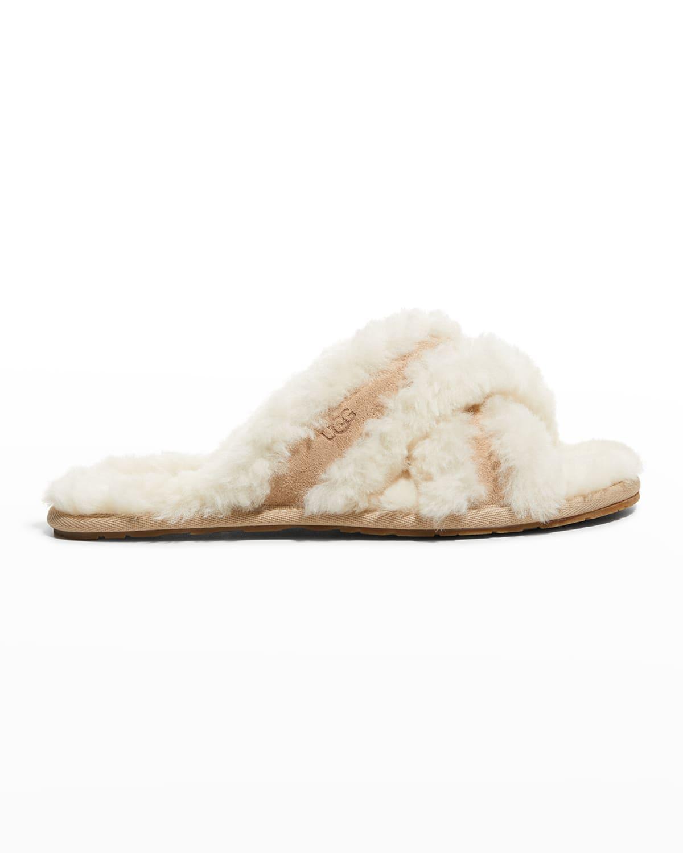 Scuffita Crisscross Shearling Slippers