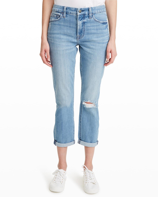 Slim Boyfriend Jeans w/ Destroy