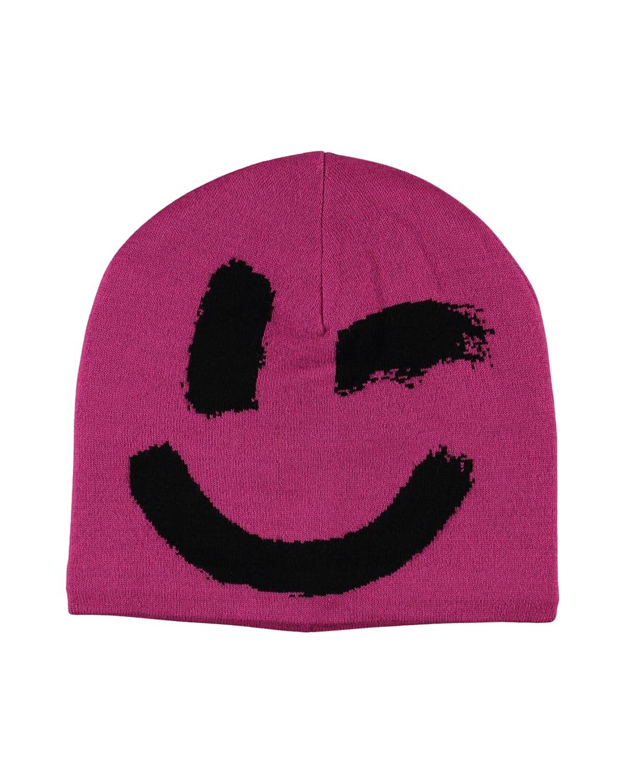 Girls' Kenzie Winky Smiley Hat With Fleece Lining