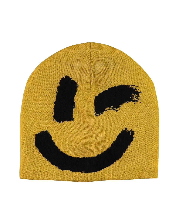 Kids' Kenzie Winky Smiley Hat With Fleece Lining