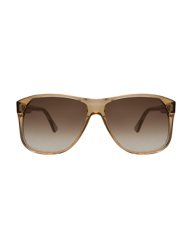 Dionne Acetate Aviator Sunglasses