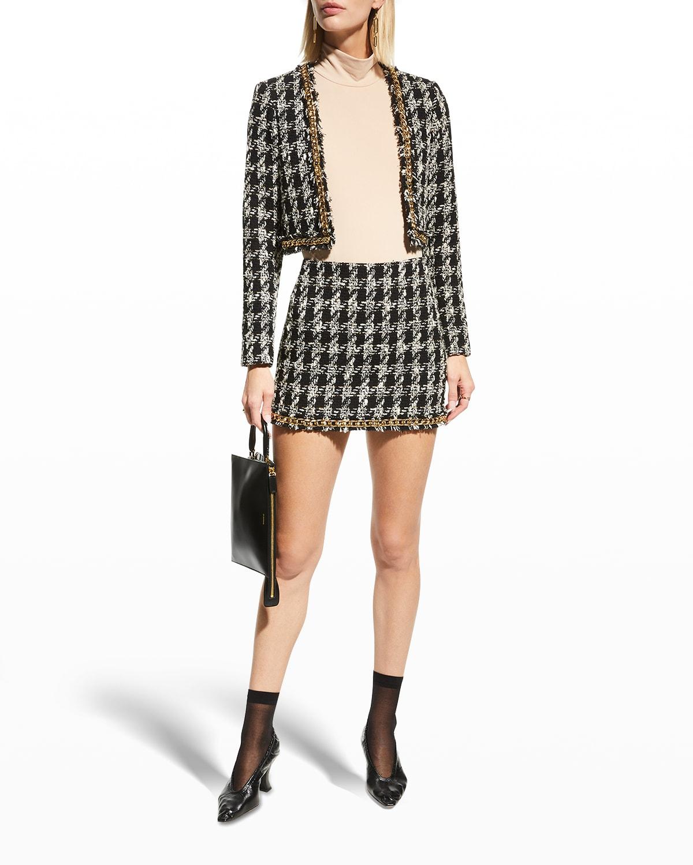 Elana Mini Skirt w/ Chain Trim